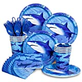 Shark Week Supplies Standard Party Kit Serves 8 Guests