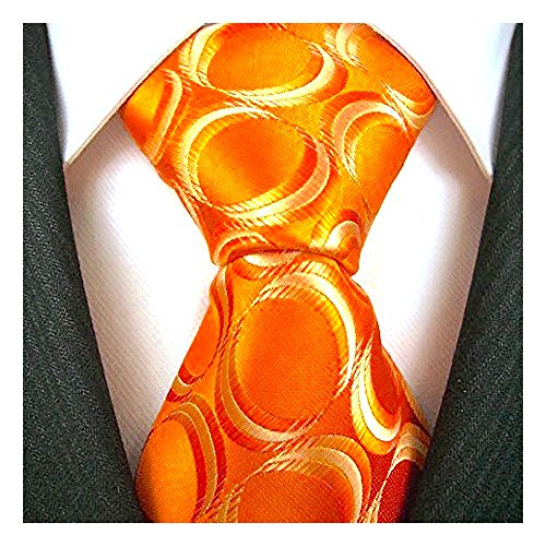 Neckties By Scott Allan - Geometric Burnt Orange Men's Tie Geometric Neckties