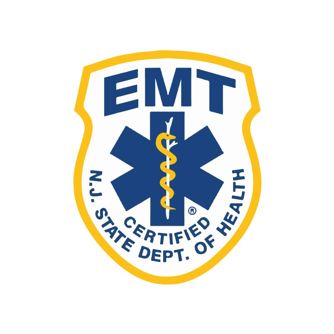 Amazon New Jersey State Certified Emt Reflective Decal