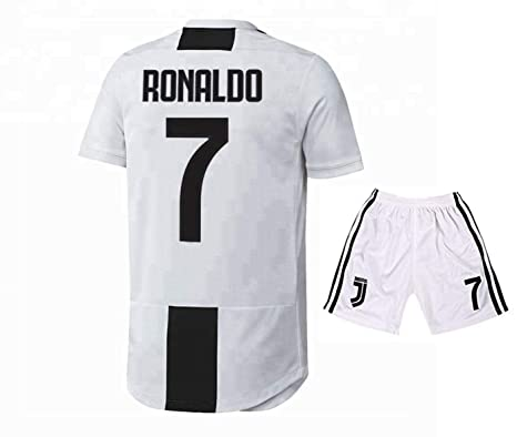 e3f861480 Image Unavailable. Image not available for. Color  Legend Ronaldo Juventus  7 Home Soccer Jersey   Shorts 2019 White