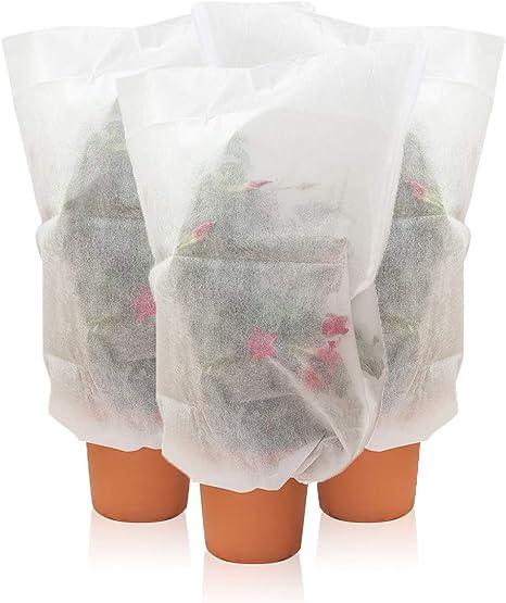 Amazy Schutzhülle Für Pflanzen 3er Set S Der Praktische Kübelpflanzensack Aus Vlies Schützt Empfindliche Topfpflanzen Vor Frost Wind Und Niederschlag 80 X 60 Cm Garten