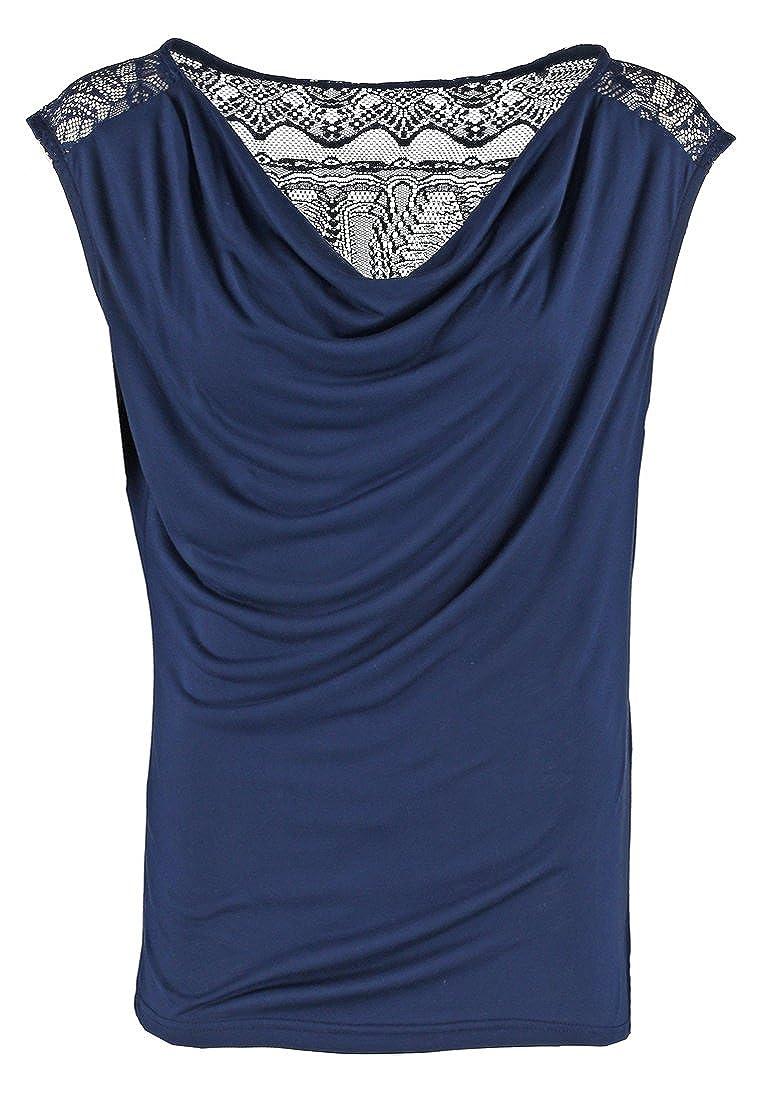 Anna Field Blusa de Mujer con Encaje en Azul - talla 34: Amazon.es: Ropa y accesorios