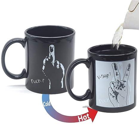Heat Middle Ceramic Changing Coffee Color Magic Home Finger Mug Creative Tea Funny Porcelain Cup Mugs Sensitive Novelty uKcF3Tl1J5
