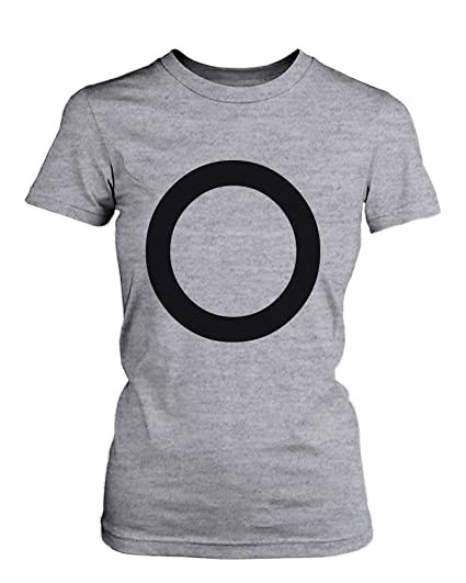 536a0ad910 X O Couple Shirts His and Hers Tee Set XO T-shirts Short Sleeve Heather Grey  at Amazon Women's Clothing store: