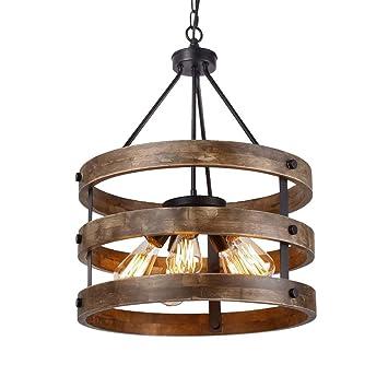 Amazon.com: Lámpara de techo industrial vintage, retro ...