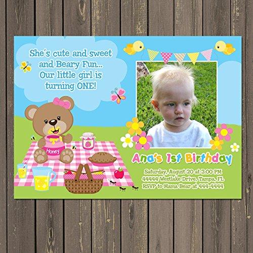 Amazon Teddy Bear Picnic Invitation Girls