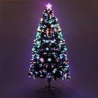 4FT Christmas Tree 1.2M Pre-lit Optic Fibre Xmas Faux Tree Multi-Colour Lighting Effect Jingle Jollys Holiday Decoration…