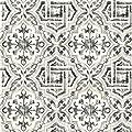 Warner 3117-12331 Sonoma Black Spanish Tile Wallpaper
