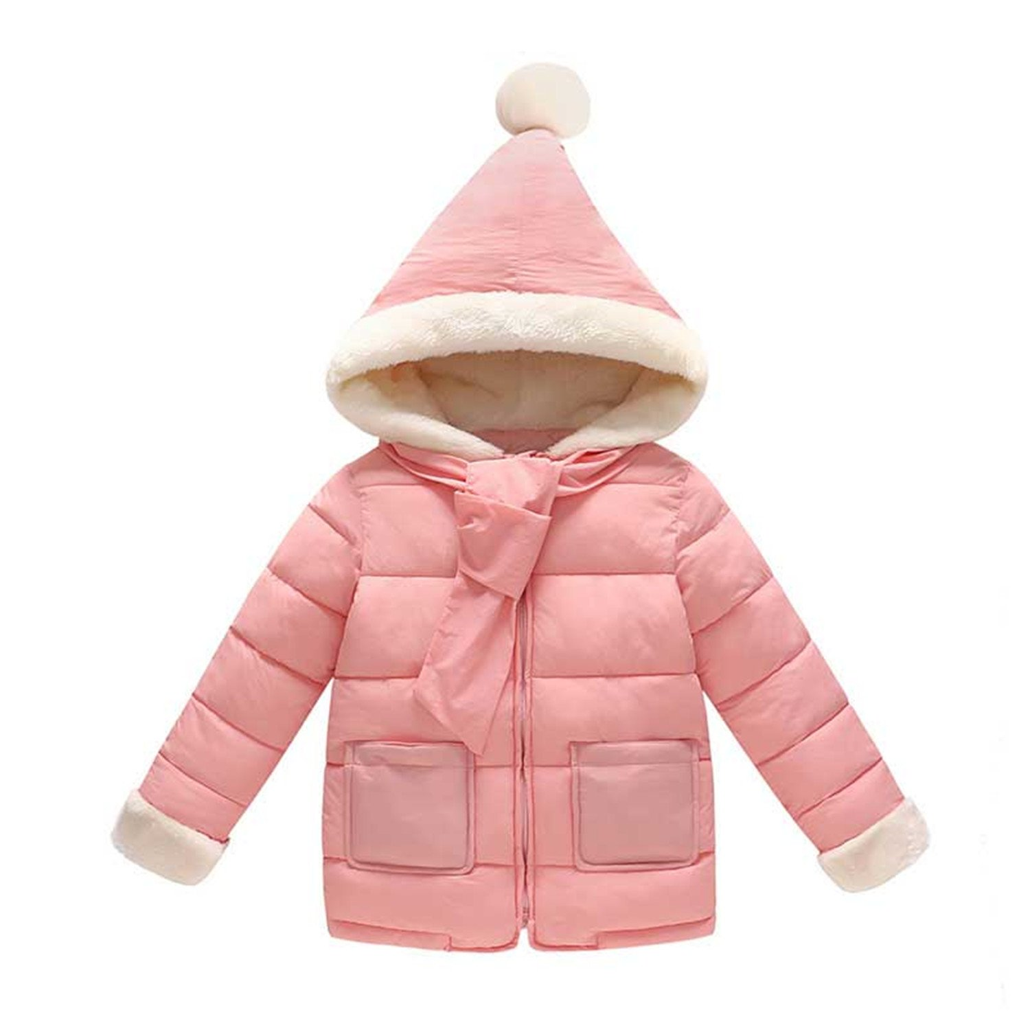 Girl Cotton Jacket Thick Winter Warm Casual Hooded Jacket