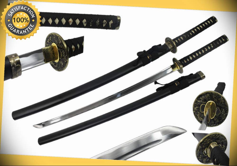 41 1045 Carbon Steel Japanese Samurai Sword Ninja Katana ...