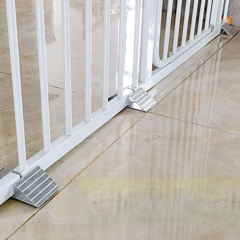 Triangular Reinforcement Fittings Freestanding Dog Gate Pet Gate Support Feet 2PCS Balacoo Doorways Stairs Reinforcement Groove Fence