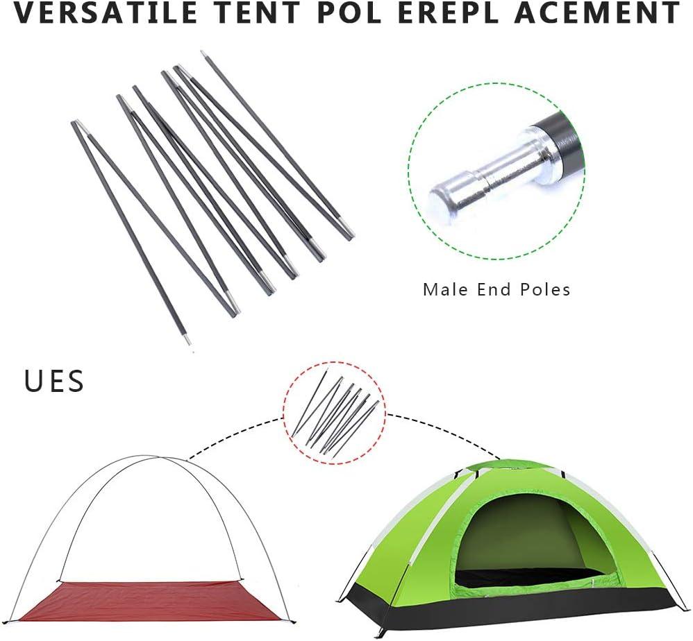 1 Pack Weanas Varilla de Aluminio Carpa Polo reemplazo 1210 Polos