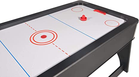 Mesa de juegos 4 en 1 plegable Air Hockey – Ping Pong – Billar con bandeja para comer.: Amazon.es: Deportes y aire libre