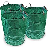 CampTeck 3 x 300 Litres Garden Waste Bag Polypropylene Heavy Duty Reusable Garden Refuse Sack