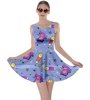 6aa4b95436 CowCow Womens Rick Morty Meeseeks Destroy Mooncake Final Space Mrs Frizzle  Space Skater Dress