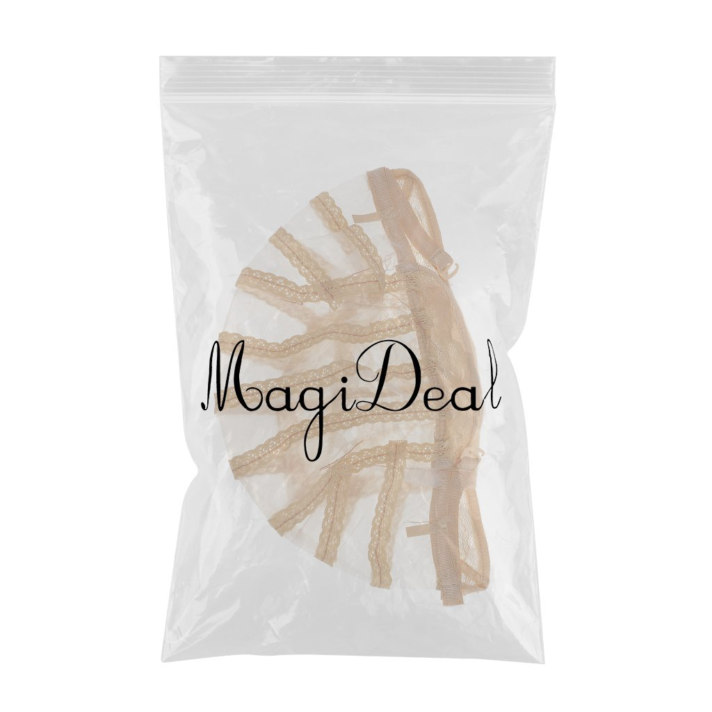 Amazon.com: MagiDeal 1pcs Lace Mesh Wig Cap for Wig Making Elastic Invisible Weave Hair Net Cap Black/ Brown/ Beige - Beige, as described: Beauty
