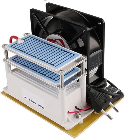 XEOLEO Generador de ozono 10g con Ventilador purificador de Aire ...