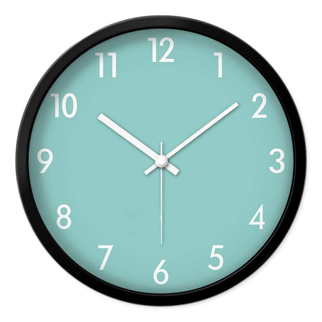 Unbekannt FANJIANI Stumm Wanduhr Persönlichkeit Kreative Wohnzimmer Schlafzimmer Cartoon Nette Uhr Kinderzimmer Mute Quarzuhr Uhr Hängenden Tisch (Farbe : Schwarz, größe : 12 Zoll)
