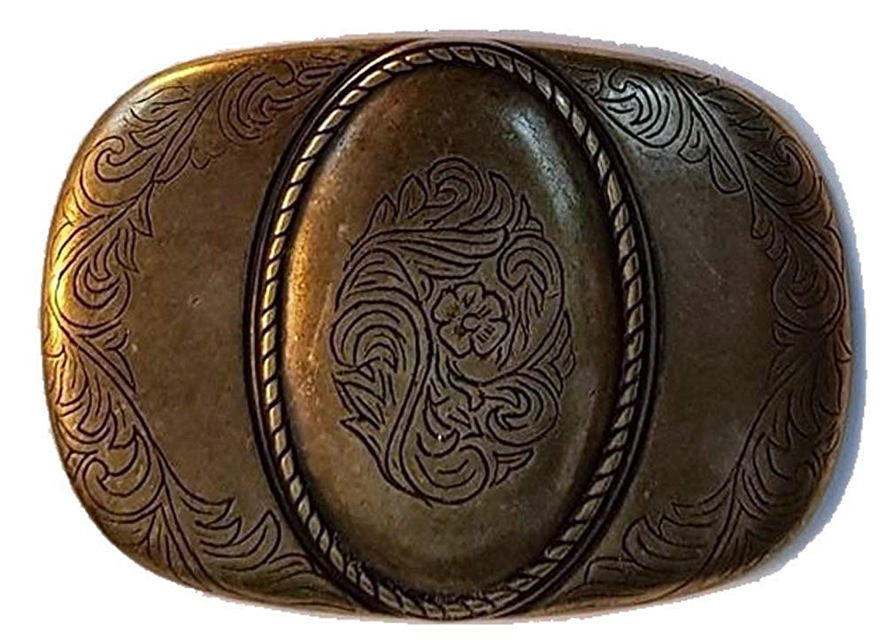 38mm 'Antique Brass' Cameo Design Belt Buckle