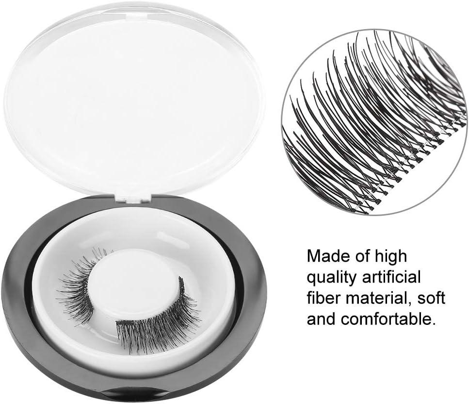 ammalianti occhi lisci ciglia magnetiche Ciglia 3D naturali nere ciglia finte riutilizzabili senza colla Ciglia finte ultrasottili finte impermeabili ciglia finte Donna lunghe e intrecciate