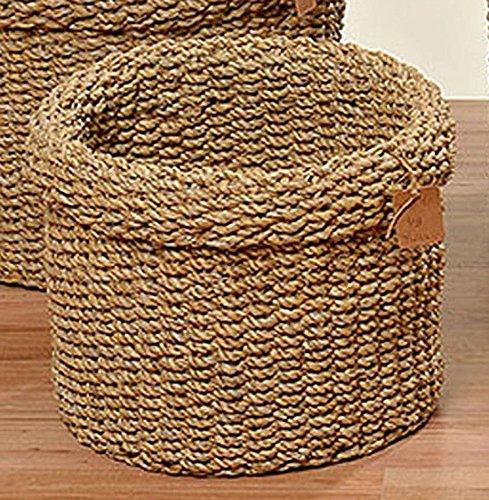 Korb Sophy Seegras Braun 3-sort.Aufbewahrungskorb Dekokorb (Klein 22x28)