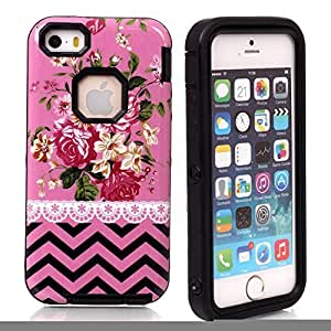 5s Case, Case For Samsung Note 3 Cover Case,Case For Samsung Note 3 Cover Case, New, Magicsky Case For Samsung Note 3 Cover Cover with Pink Flower Wave Pattern Full Body Hybrid Impact Shockproof Defender Case For Samsung Note 3 Cover, 1 Pack(Pink Flower/Black)