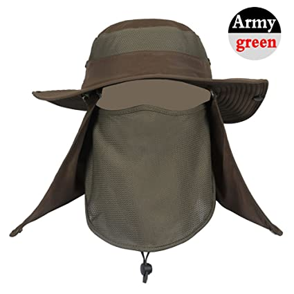 Amazon.com  Dealzip Inc 360°UV Protection Fishing Hat be371110820