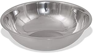 Crestware MBP03 3-Quart Stainless Steel Professional Mixing Bowl, 1mm Thick, 1, Silver