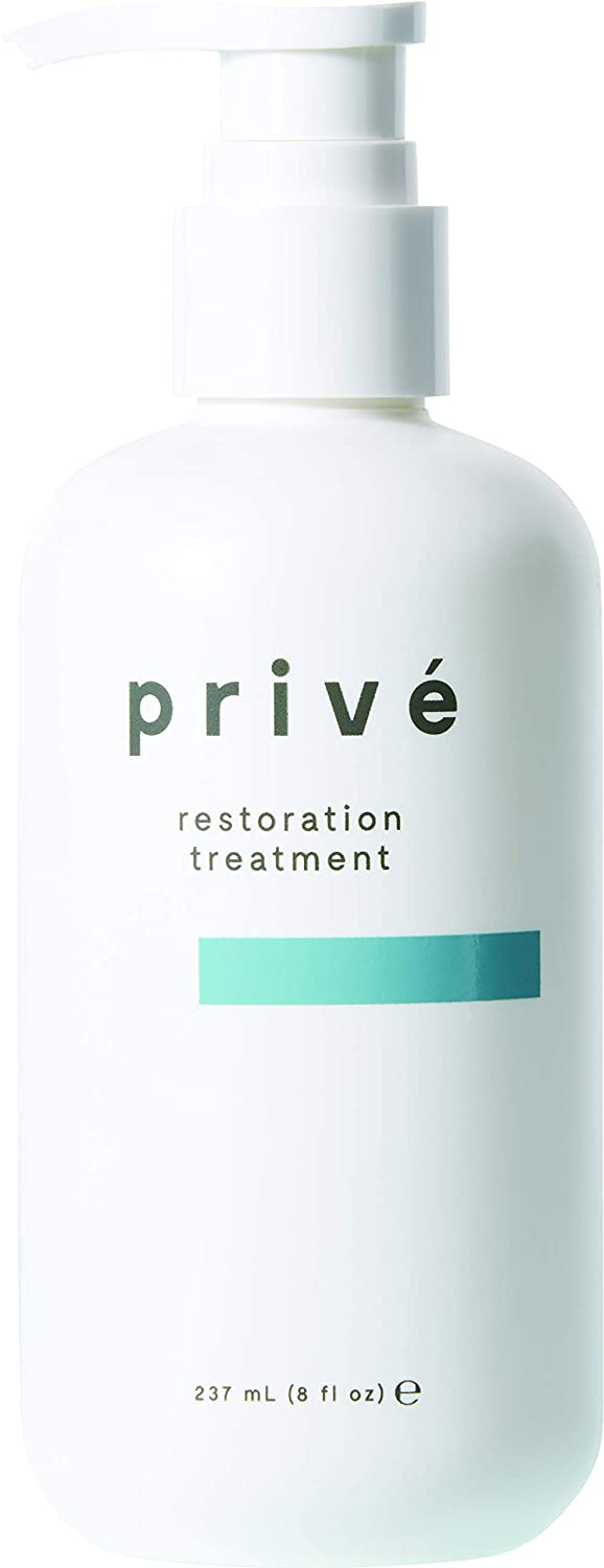 Privé Restoration Treatment – Light Conditioning Leave In Protein Hair Treatment for Dry Damaged Hair to Detangle, Smooth, and Soften Hair While Restoring Its Vitality – Hair Repair Treatment (8 oz)
