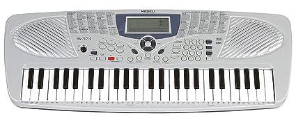 Medeli - Teclado musical para estudio escolar, modelo MC37, con 49 teclas.
