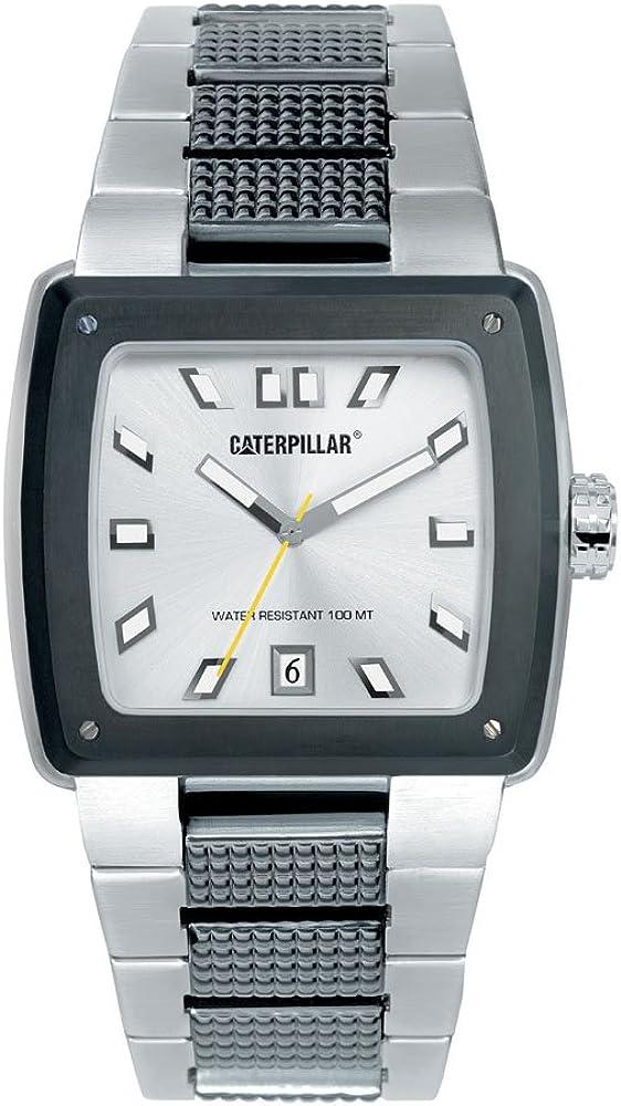 Caterpillar Hammer CA1503 - Reloj de Caballero de Cuarzo, Correa de Acero Inoxidable Color Plata
