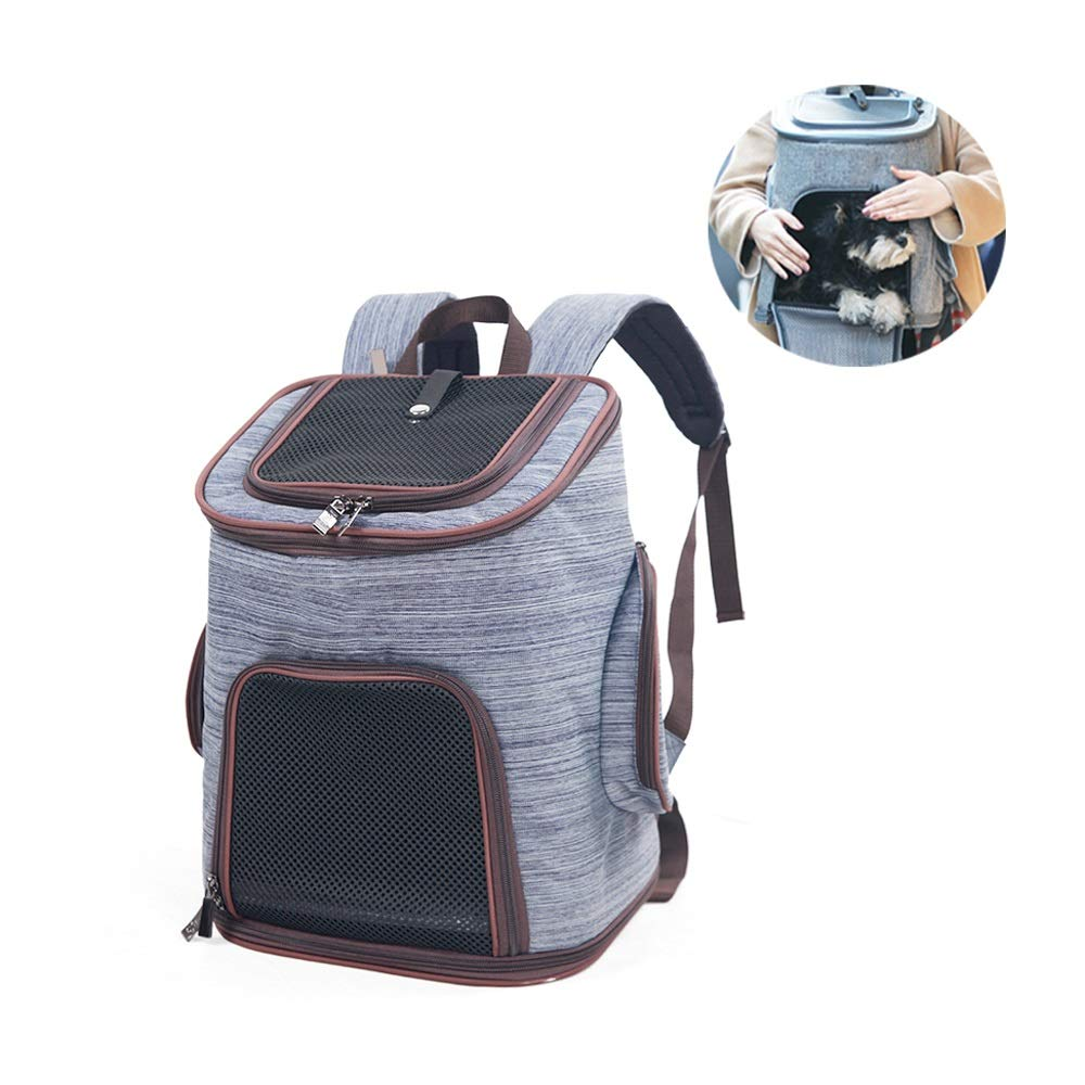 bluee Premium Pet Carrier Backpack for Small Cats and Dogs Designed for Travel, Hiking & Outdoor Use (color   bluee)