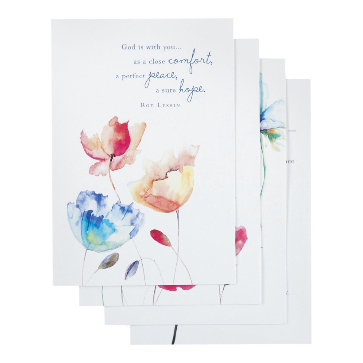 DaySpring Praying for You Boxed Greeting Cards w Embossed Envelopes - Watercolor Prayers, 12 Count (77546) by Dayspring DaySpring Company