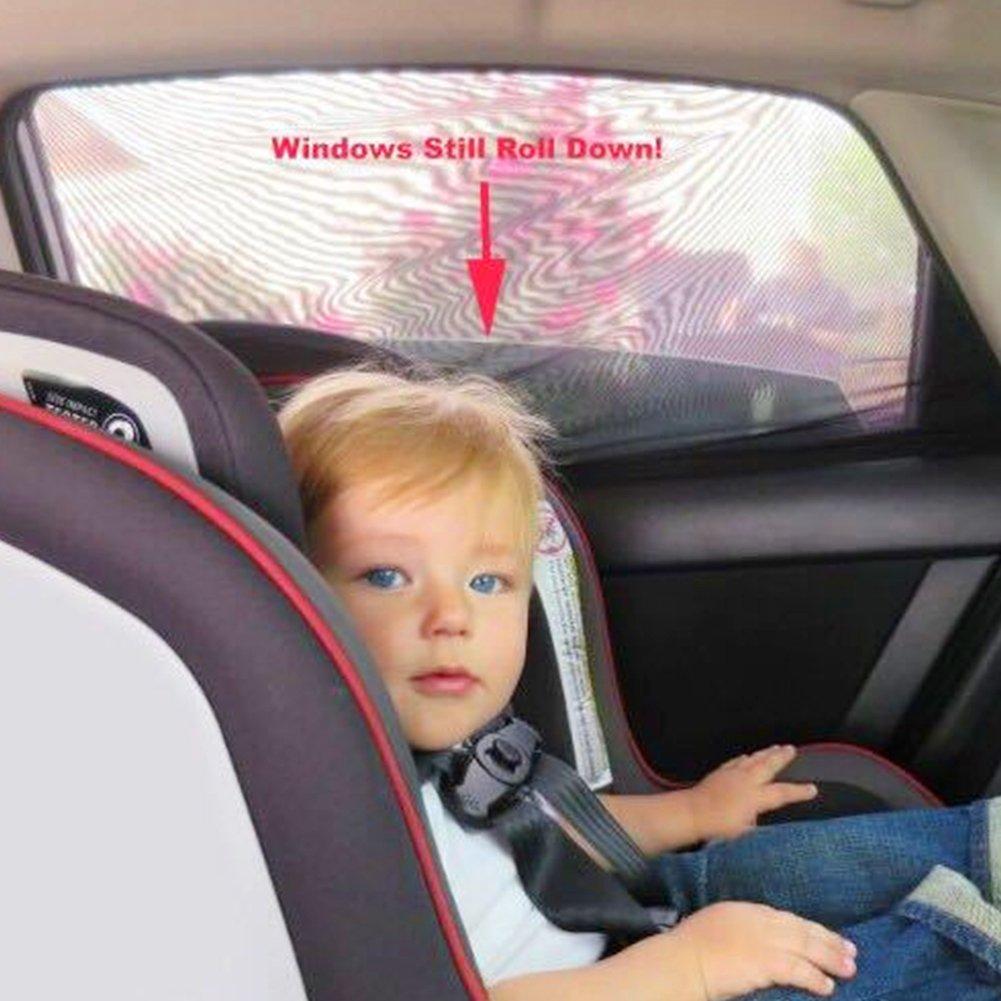 ASSR Parasole per finestrino Posteriore Auto in Rete per Bambini e Animali Domestici Si Adatta alla Maggior Parte delle Auto//SUV 2 Pezzi Traspirante