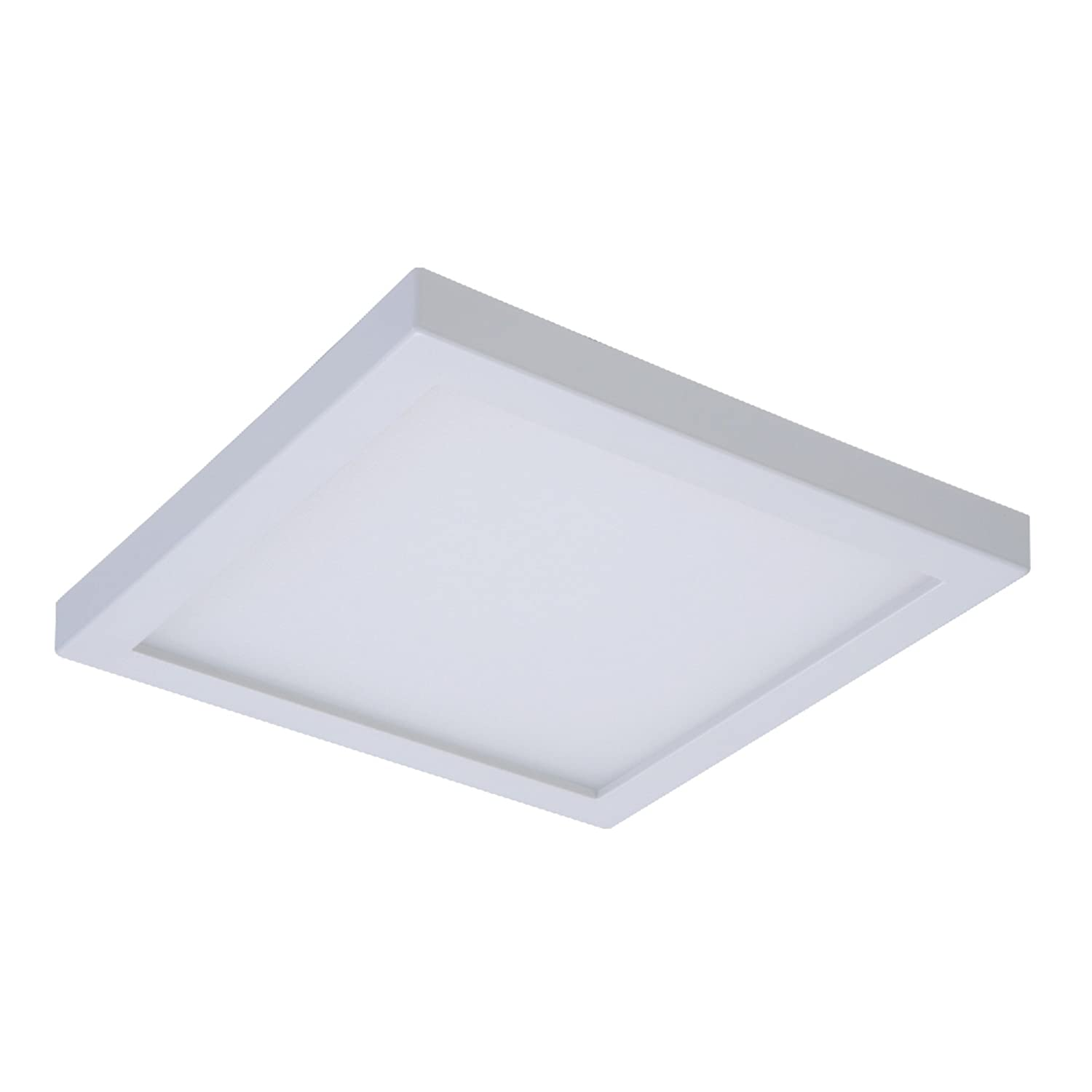 Halo smd6s6930wh smd 3000k integrated led surface mount recessed square trim 5 in 6 in white