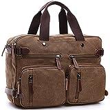 Gesu Vintage 3-way Convertible Briefcase Hybrid Laptop Backpack Messenger Bag.