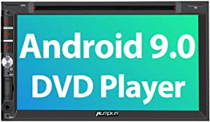 PUMPKIN Android 9.0 Double Din Car Stereo with DVD Player, GPS, WiFi, Fastboot, Support Backup Camera, Android Auto, AUX, 7 Inch Touch Screen