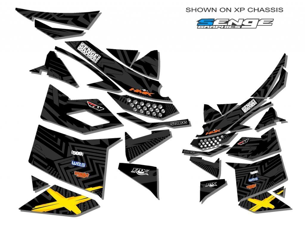 Senge Graphics ALL YEARS Ski doo Freestyle Mayhem Black Sled Wrap Senge Graphics Inc. COMINU029253