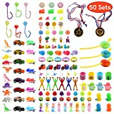 FUNNISM [50 Pieces Toys Filled Surprise Eggs, 2.5 Inches Bright Colorful Prefilled Plastic Surprise Eggs with 25 kinds of Popular Toys