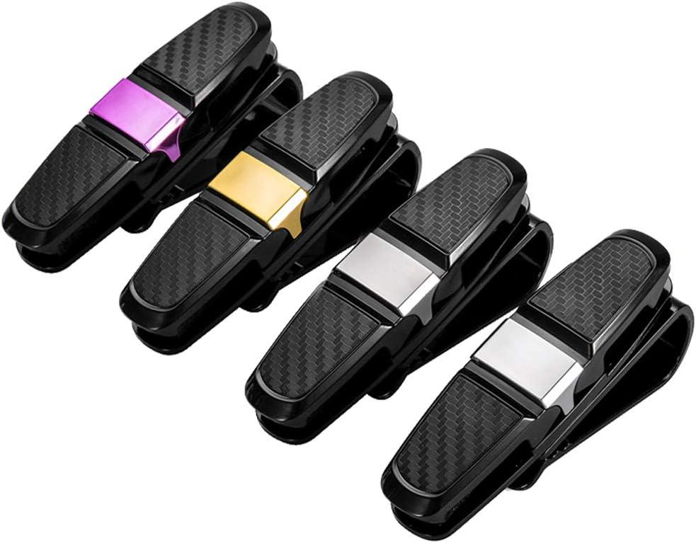 4er Pack Brillenhalter f/ür Auto Sonnenblende,Sonnenbrillenhalterung,Brillenhalterung,Doppelenden Sunglasses Clip Schwarz