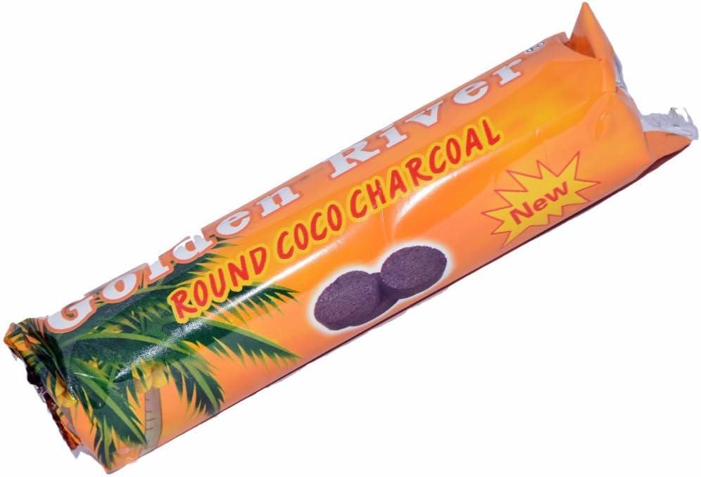 Carbón naturales Golden River Coco–1rodillo