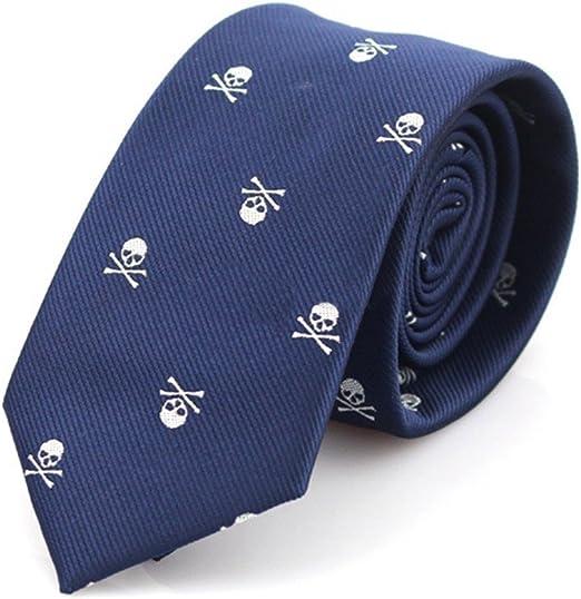 Corbata para hombres Skgardeniamy, estrecha, con calaveras ...
