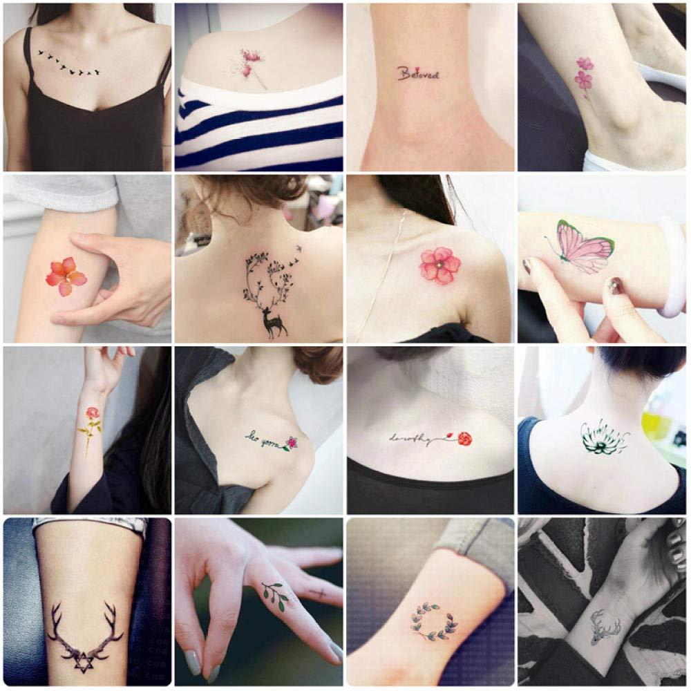 Pegatinas de tatuaje pegatinas de clavícula de dedo a prueba de ...