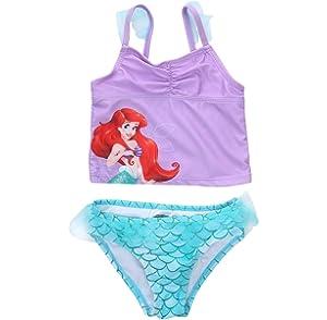 Amazon.com: Disney Ariel Swimsuit for Girls Size 2 Multi ...