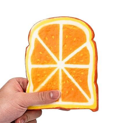 UPXIANG Squishy Jumbo Fruits - Peluche para aliviar el estrés para adultos, Lemon, 14x11x1