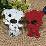 SMALL-CHIPINC - Bear Metal Cutting Dies for DIY Scrapbooking/Card Making/Kids Fun Decoration Supplies