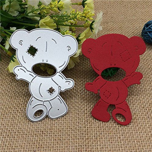 SMALL-CHIPINC - Bear Metal Cutting Dies for DIY Scrapbooking/Card Making/Kids Fun Decoration Supplies