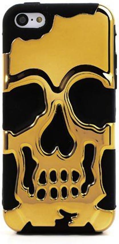 Kalaban iPhone 5S Coque, iPhone 5S Tête de mort Coque, iPhone 5S Tête de mort squelette Coque, Chrome Tête de mort Combo dur doux Squelette Style ...