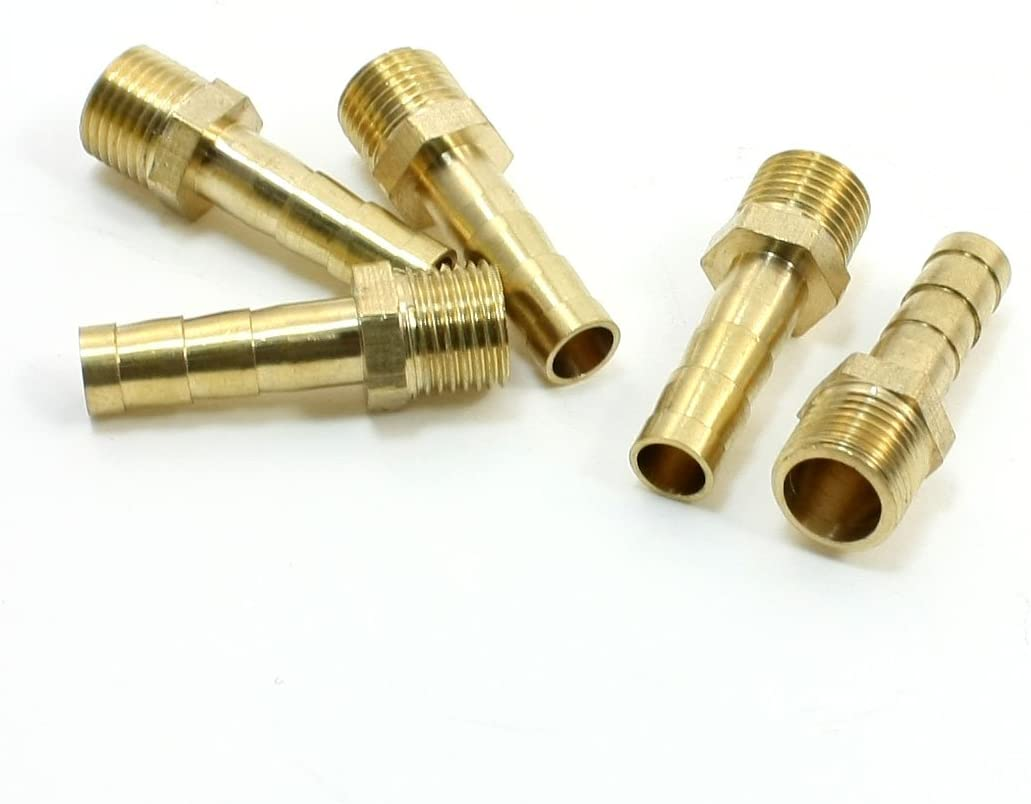 """Brass Female Thread Fitting 1//8/"""" 6mm Pneumatic Hose Connector Adapter Barb"""