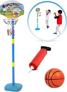 paipaitoys Kids Basketball Hoop Play Set – Adjustable Height 25-52 Inches – Ideal for Toddlers Kids & Adults, Ages 3 Years and Up –Indoor - Outdoor Play
